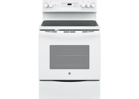 "GE 30"" White Freestanding Electric Range - JB655DKWW"