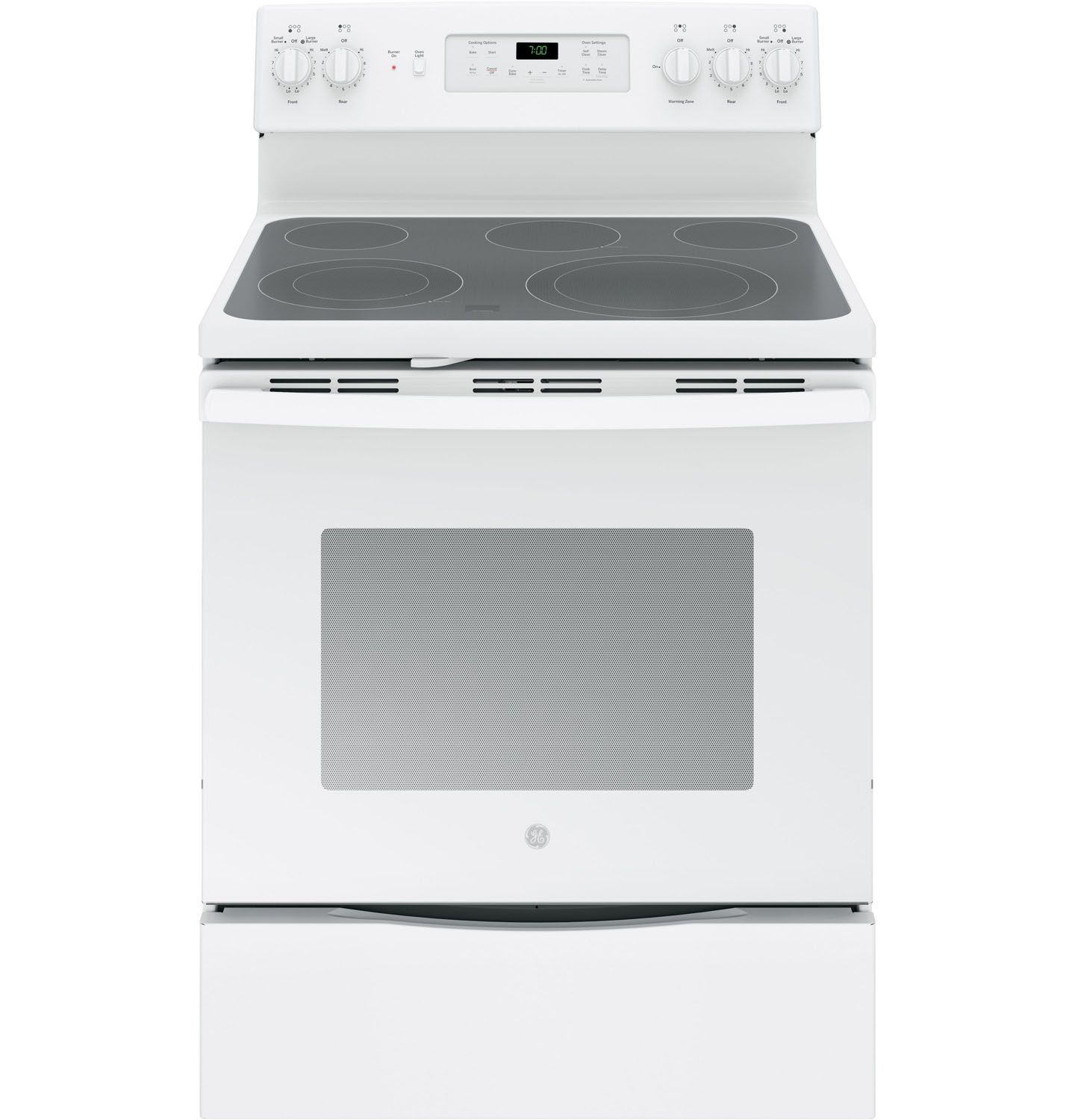 White Electric Stove ~ Ge quot white freestanding electric range jb djww