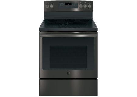 """GE Profile 30"""" Black Stainless Steel Electric Convection Range - JB750BJTS"""