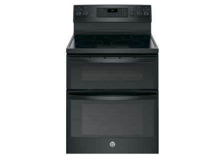 "GE 30"" Black Free-Standing Electric Double Oven Convection Range - JB860DJBB"