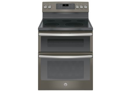 "GE 30"" Slate Free-Standing Electric Double Oven Convection Range - JB860EJES"