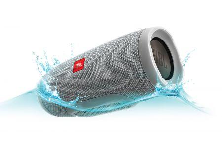 JBL Charge 3 Gray Portable Bluetooth Speaker - JBLCHARGE3GRAYAM