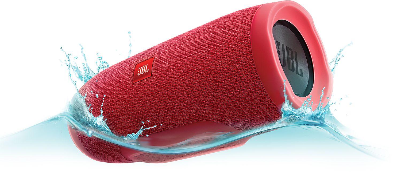 Jbl Charge 3 Red Bluetooth Speaker Jblcharge3redam Waterproof Portable