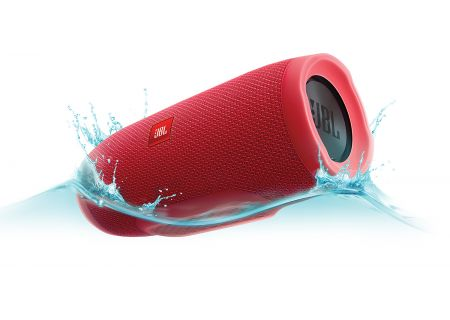 JBL Charge 3 Red Portable Bluetooth Speaker - JBLCHARGE3REDAM