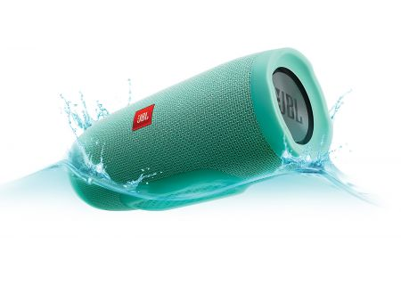 JBL Charge 3 Teal Portable Bluetooth Speaker - JBLCHARGE3TEALAM
