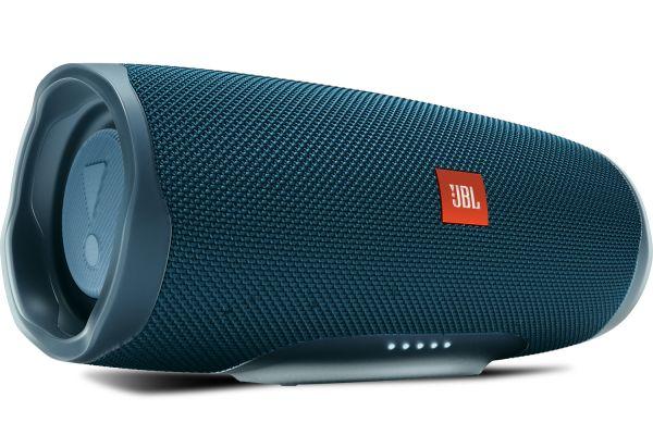 Large image of JBL Charge 4 Blue Portable Bluetooth Speaker - JBLCHARGE4BLUAM