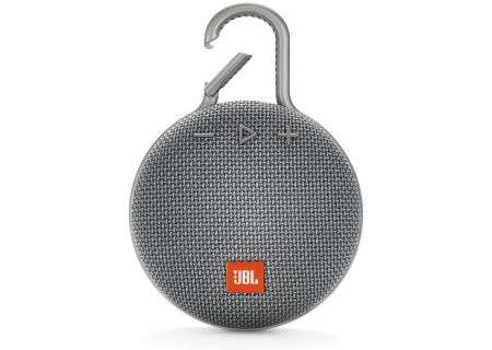 JBL Clip 3 Stone Gray Portable Bluetooth Speaker - JBLCLIP3GRY