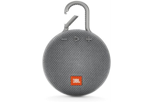 Large image of JBL Clip 3 Stone Gray Portable Bluetooth Speaker - JBLCLIP3GRYAM
