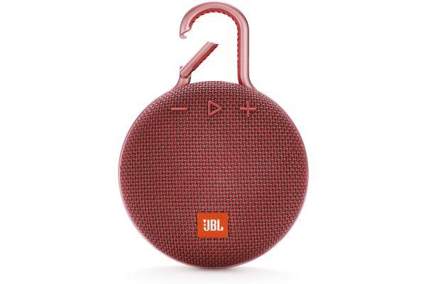 JBL Clip 3 Fiesta Red Portable Bluetooth Speaker - JBLCLIP3REDAM