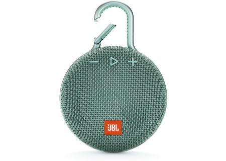 JBL Clip 3 River Teal Portable Bluetooth Speaker - JBLCLIP3TEAL