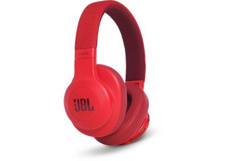 JBL E55BT Red Wireless Over-Ear Headphones - JBLE55BTRED