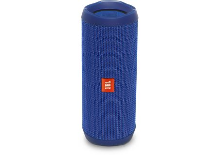 JBL Flip 4 Blue Wireless Portable Stereo Speaker - JBLFLIP4BLUAM