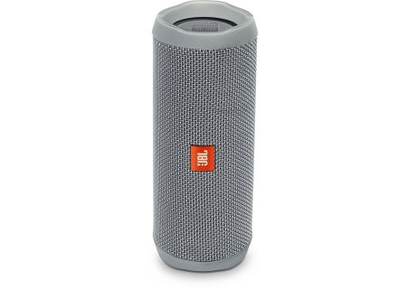 JBL Flip 4 Grey Wireless Portable Stereo Speaker - JBLFLIP4GRYAM