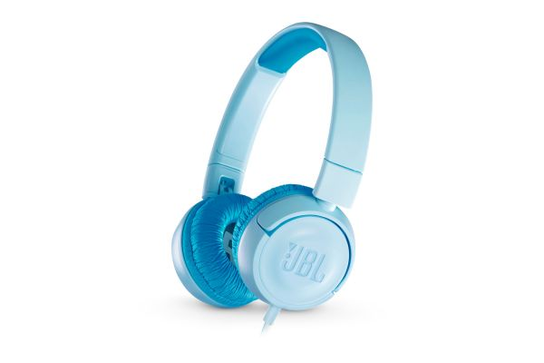 JBL JR300 Ice Blue Kids Wired On-Ear Headphones - JBLJR300BLU