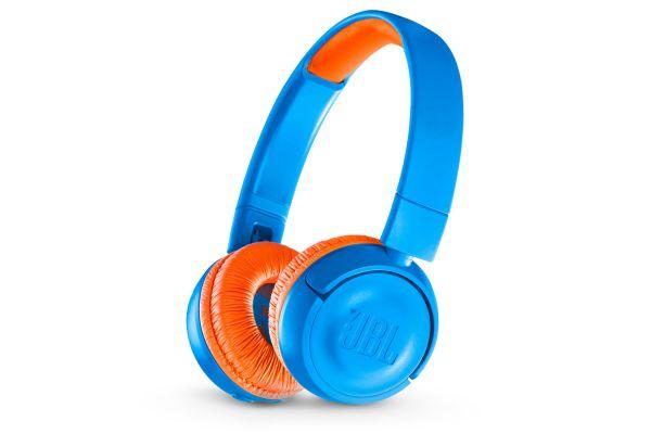 Large image of JBL JR300BT Rocker Blue Kids Wireless On-Ear Headphones - JBLJR300BTUNOAM