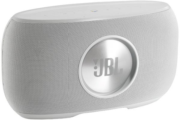 Large image of JBL Link 500 White Bluetooth Voice Activated Speaker - JBLLINK500WHTUS