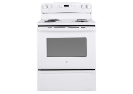 "GE 30"" White Freestanding Electric Range - JBS30DKWW"