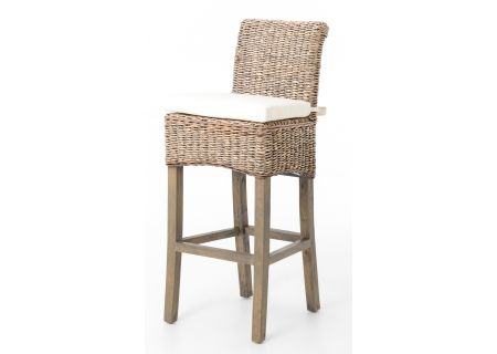 Four Hands Grass Roots Collection Banana Leaf Bar Stool - JCHR-B1BSG-GRY