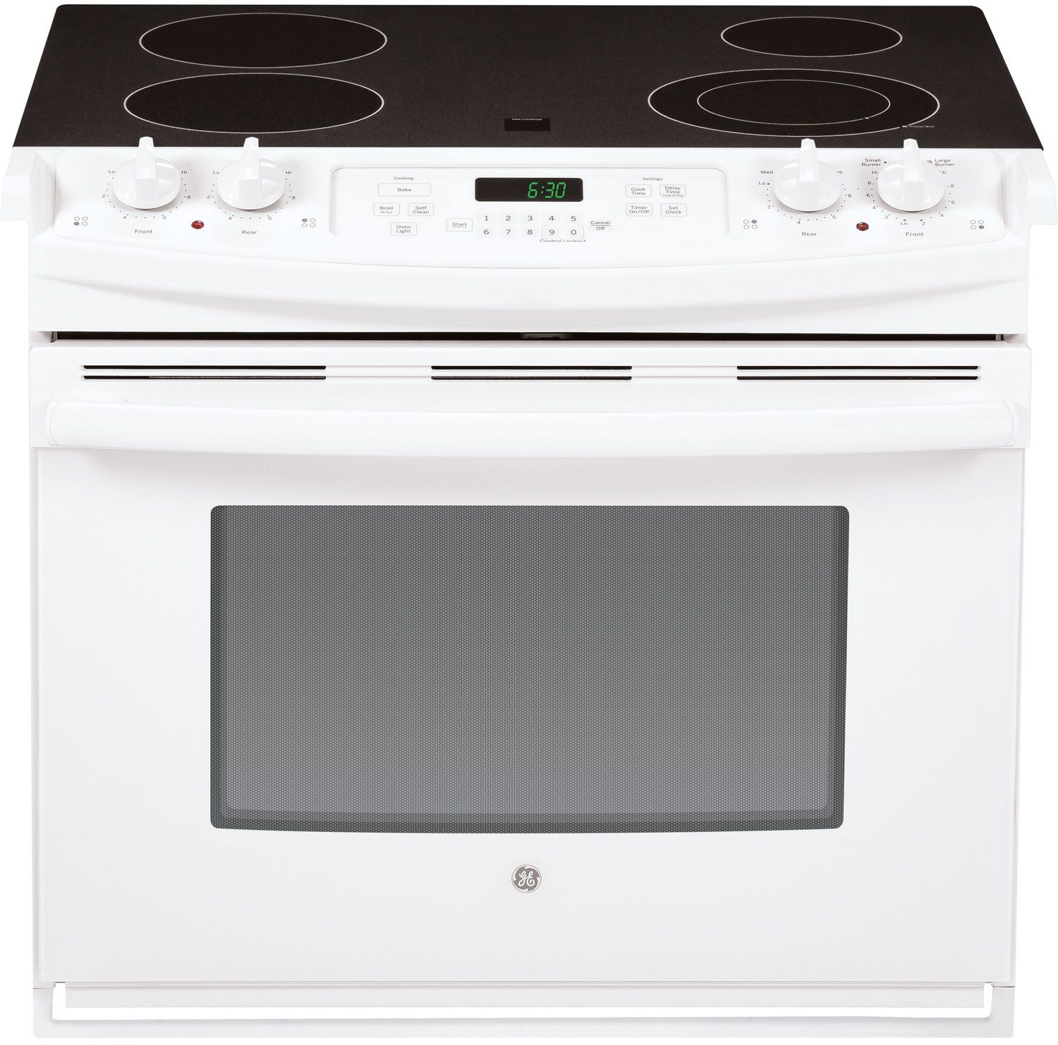 Drop In Cooktops Electric ~ Ge quot white drop in electric range jd dfww abt