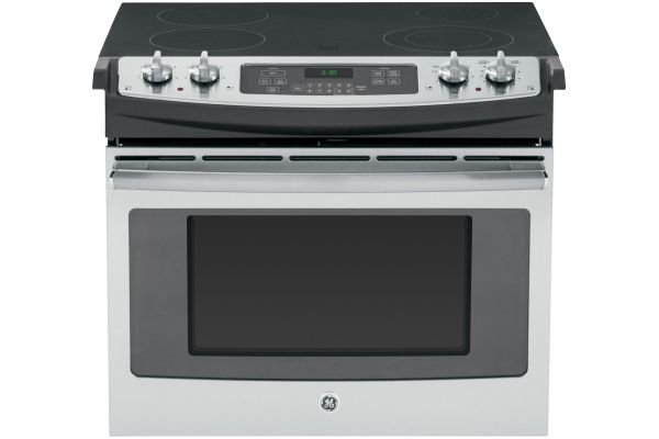 "Large image of GE 30"" Stainless Steel Drop-In Electric Range - JD630SFSS"