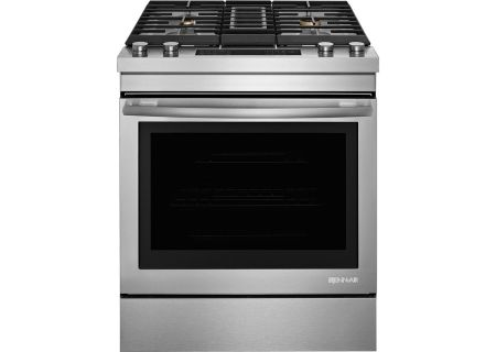 "Jenn-Air 30"" Stainless Steel Dual-Fuel Slide-In Downdraft Range - JDS1750FS"