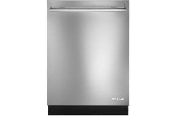 "Large image of JennAir Euro-Style 24"" TriFecta Stainless Steel Dishwasher - JDTSS244GS"