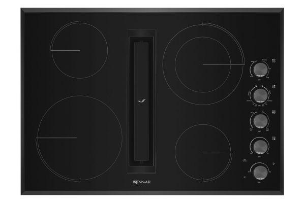"""Large image of JennAir 30"""" JX3 Black Electric Cooktop With Downdraft - JED3430GB"""