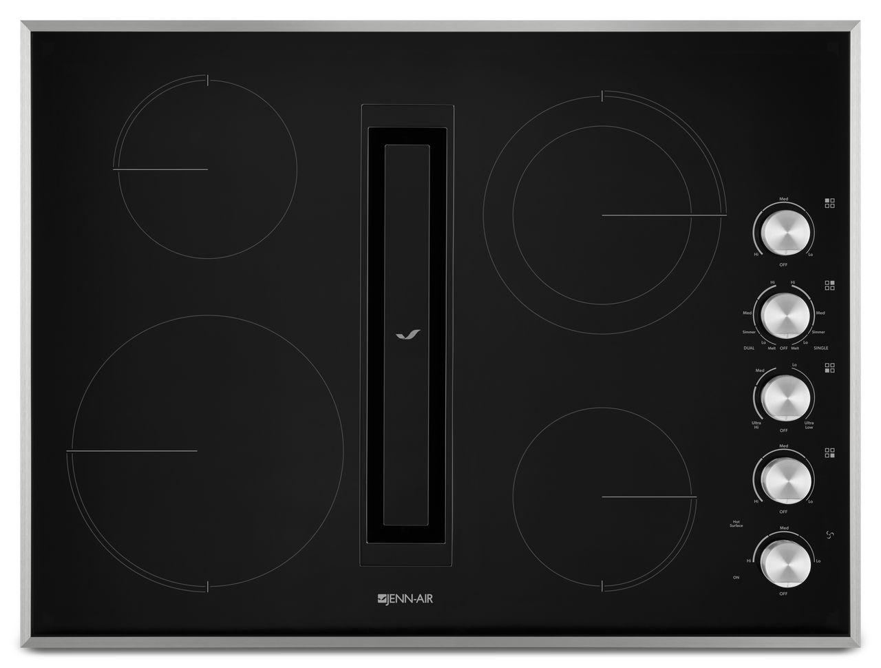 Jenn Air Electric Cooktop With Downdraft Jed3430gs