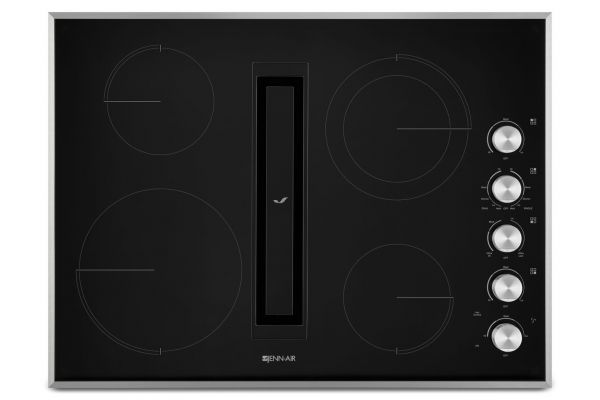 "Large image of JennAir 30"" JX3 Stainless Steel Electric Cooktop With Downdraft - JED3430GS"