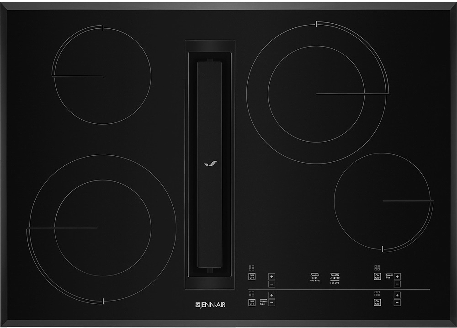 Jenn Air 30 Black Jx3 Electric Downdraft Cooktop Jed4430gb