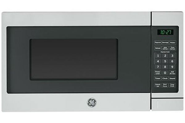Large image of GE 0.7 Cu. Ft. Stainless Steel Countertop Microwave Oven - JES1072SHSS