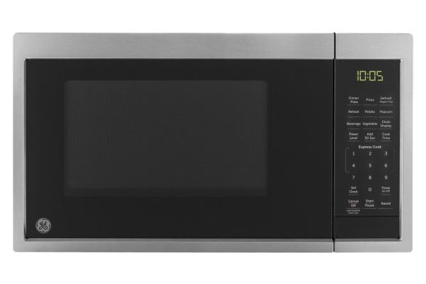 Large image of GE 0.9 Cu. Ft. Stainless Steel Countertop Microwave Oven - JES1095SMSS