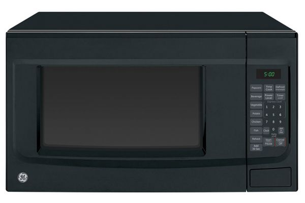 Large image of GE Black Countertop Microwave Oven - JES1460DSBB
