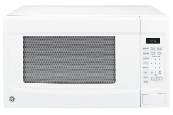Large image of GE White Countertop Microwave Oven - JES1460DSWW