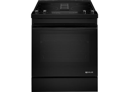 "Jenn-Air 30"" Black Electric Slide-In Downdraft Range - JES1750FB"