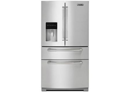 "Jenn-Air 69"" Monochromatic Stainless Steel French Door Bottom Freezer Refrigerator - JFX2897DRP"