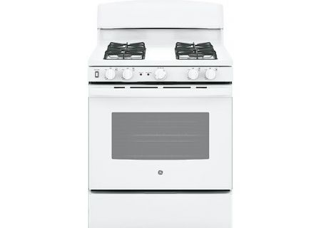 "GE 30"" White Freestanding Gas Range - JGB450DEKWW"