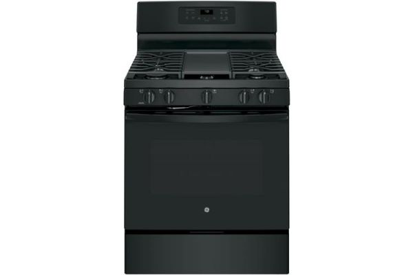 "GE 30"" Free Standing Black Gas Convection Range - JGB700DEJBB"
