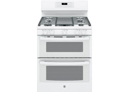 "GE 30"" White Freestanding Double Oven Gas Range - JGB860DEJWW"