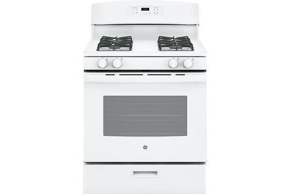 """Large image of GE 30"""" White Freestanding Gas Range - JGBS60DEKWW"""