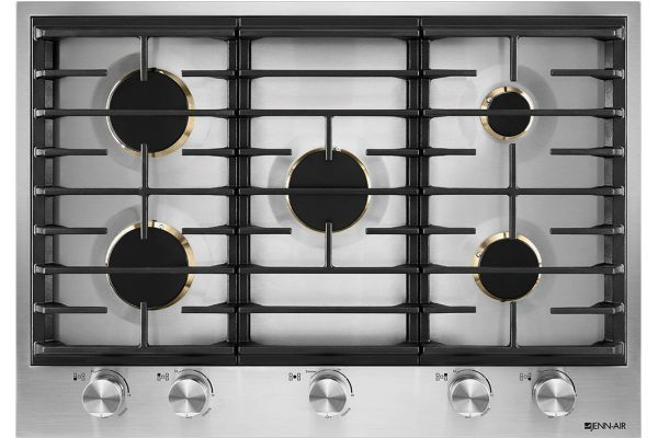 """Large image of JennAir 30"""" Stainless Steel Gas Cooktop - JGC3530GS"""