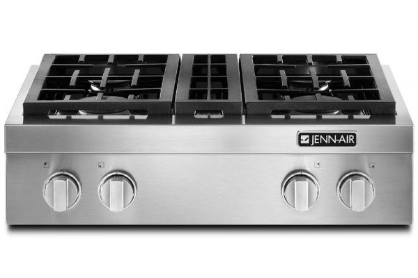 """Jenn-Air 30"""" Pro-Style Stainless Steel Gas Cooktop - JGCP430ADP"""