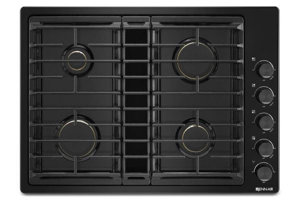 "Large image of JennAir 30"" JX3 Black Gas Downdraft Cooktop - JGD3430GB"