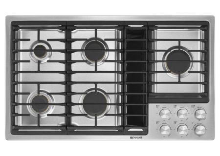 """Jenn-Air 36"""" JX3 Stainless Steel Gas Cooktop With Downdraft  - JGD3536GS"""