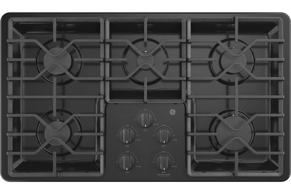 "GE 36"" Black Gas Cooktop - JGP3036DLBB"
