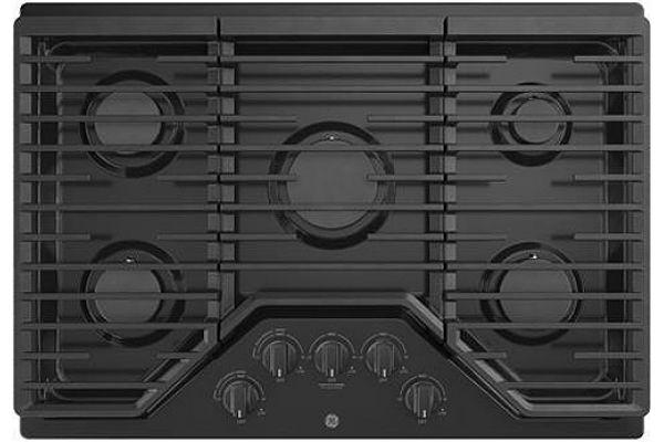 """Large image of GE 30"""" Black Gas Cooktop - JGP5030DLBB"""