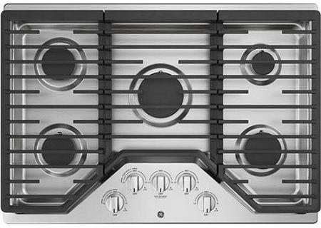 "GE 30"" Stainless Steel Gas Cooktop - JGP5030SLSS"