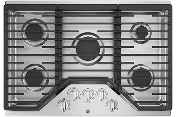 """Large image of GE 30"""" Stainless Steel Gas Cooktop - JGP5030SLSS"""