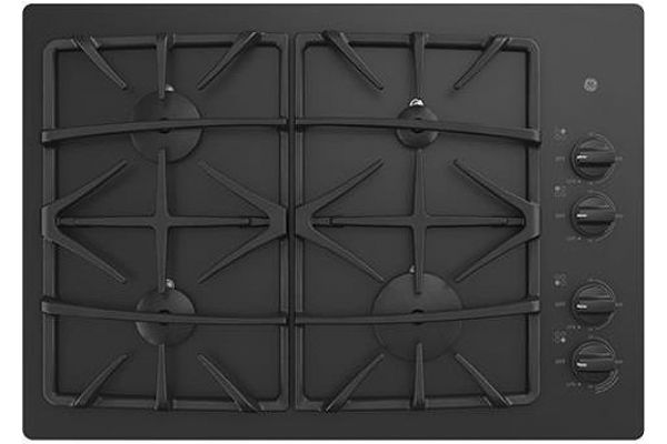 "Large image of GE 30"" Black Gas Cooktop - JGP5530DLBB"