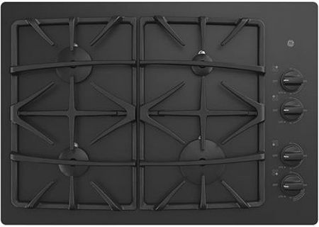 "GE 30"" Black Gas Cooktop - JGP5530DLBB"